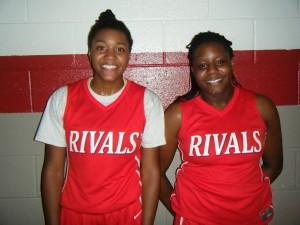 Taylor Soule and Janai Crooms of Rivals Black 17U Photo Credit Bob Corwin