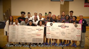Team Elite Hubbard 2018 and Team Elite Pointer EYBL - Nike U 15's and Nike Nationals champs. Credit Bob Corwin