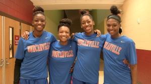 (left to right) Jayla Johnson,Aniya Thomas, Zarielle Green, Starr