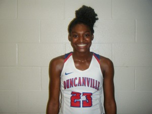 Starr Jacobs of Duncanville High School   (Credit to Bob Corwin)