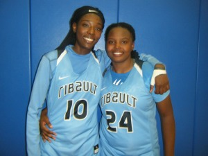 Rennia Davis and Dayneshia Banks of Jacksonville Ribault High School    (Credit to Bob Corwin)