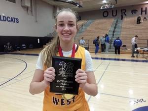 Madison Campbell of Clovis West HS - Smith Division MVP (Photo Credit Bob Corwin)