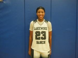 Ladazhia Williams of Lakewood Ranch High School (Credit to Bob Corwin)
