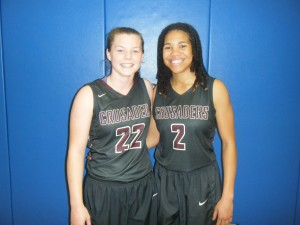 Brylee Bartram and Chelsie Hall of Seffner Christian Academy (Credit to Bob Corwin)