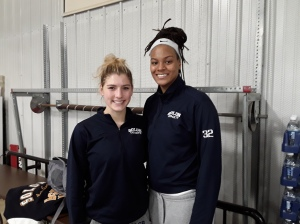 Dee Bekelja and Valencia Myers of Solon High School. Photo Credit Bob Corwin